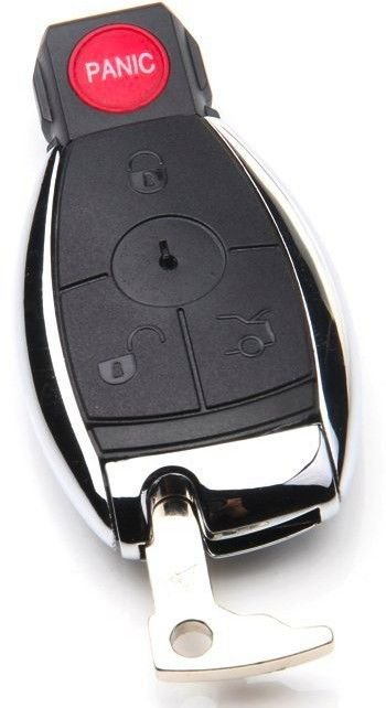 New Key Remote MERCEDES BENZ SHELL FOB case 4 button ship 24 hrs LIFE warranty