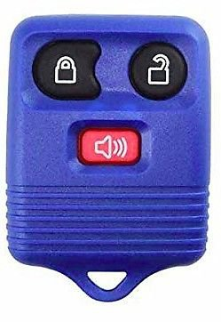NEW FORD Key remote FOB SHELL case blue 3 Button LIFE WARRANTY! Ships 24hrs
