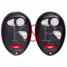 New Keyless Remote Key Fob CHEVROLET PONTIAC OLDSMOBILE 4 button Set of 2!