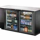 "60"" Back Bar Beer Bottle Cooler Refrigerator w/ Stainless Top UBB-24-60G"