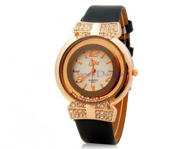 Stunning with Crystals & Beads Women's Fashion Round Dial Wrist Watch