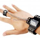 Manga Anime Attack on Titan Inspired Bracelet Wristband (Black)