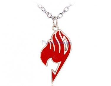 Anime Manga Fairy Tail Design Pendant Necklace (Red)