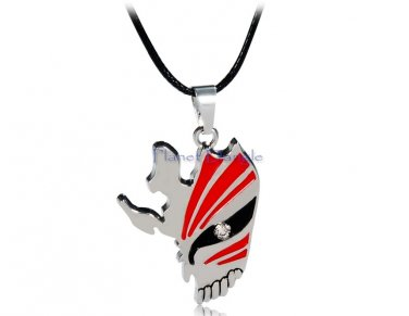Anime Manga Bleach Design Necklace (Red & Silver)