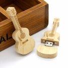 32GB Wooden Guitar  USB Flash Drive pen drive memory Stick music pendrive gift
