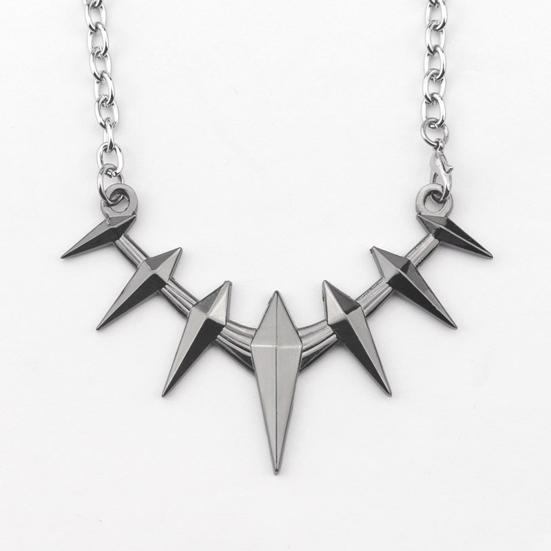 Cosplay Avengers Black Panther  Design Metal Necklace Wakanda King T'Challa Anime