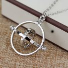 Time Turner Necklace Rotating Spinning Hourglass Necklace Statement Jewelry