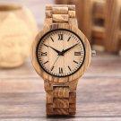 Men Natural  Wood Hand-crafted Stylish  Luxury  Quartz Wristwatch