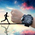 Sports Fishing, Camping, Hiking Waterproof  Watch with Led Flashlight Compass Black  Wristwatch