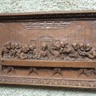 Last Supper Wood Plaque Picture Wall Jesus Carved Burwood Products USA Vintage