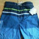 Men Caribbean Joe Board Shorts Size M Blue Swim Trunks Bathing Suit Cotton NEW