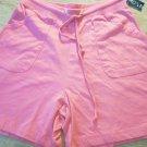 Nick & Sarah Sport HOT Pink Shorts Size S Jersey Cotton Pockets Drawstring  NEW