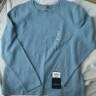 Sonoma Ladies soft Pullover Top Baby Blue Size L Shirt Cotton Long Sleeve NEW