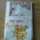 Vintage Set of 2 Grand Maid Rose Cluster Pillowcases Yellow Flowers Cotton NEW