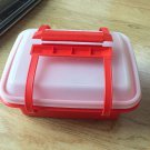 TUPPERWARE Lunch Box Set Cup Sandwich Dessert Holder 9 piece Container Lid EUC