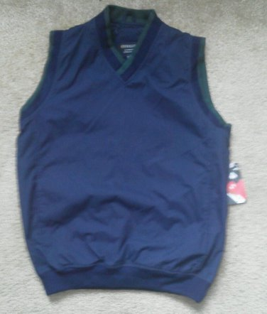 Men vest light jacket by Holloway Lifestyle Collection XS Navy Blue Green Trim