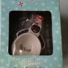 Black Snowman Ceramics Measuring Cups 4 pack Christmas set New