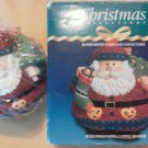 Christmas Rolli Polli Santa Candle Holder Large Handpainted Colorful 1996 New