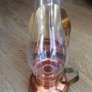 Vintage Coppercraft Guild Copper Hurricane Lamp Candle Holder Glass Chimney
