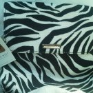 Zebra Print Purse Nine West Shoulder Bag Black White Flap Metal Clasp Malibu NEW