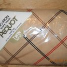 Vintage Springs Mills PEQUOT Muslin Twin Brown Flat Sheet Case Set Made USA New