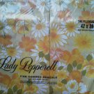 Vintage Lady Pepperell pillowcases Set of 2 Yellow Orange Bridal Bouquet Flower