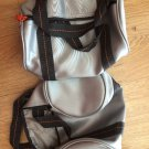 Set of 2 Gray CANDIES travel padded bag unisex Round Duffle Style Handles Makeup