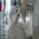 GODS COMFORT Angel Carson Large Glow Dark Cross Artstone Stone Figurine Pray NEW