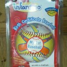 New baby ball baseball birth date Name My 1st Homefield opening day star slugger