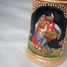German Beer Stein Small Tanz mit mir Komm mei madl Colorful Detailed Couple King
