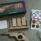 Tension Shooter Wood Stress Gun Rubber Band Target Practice Pest Park Avenue NEW