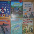 Set of 6 Step Into Reading Books Whales Dolphins Pirate Ghost Thomas Lil Witch