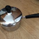 K D Gourmet Pan 1 Qt Lid 5 3/4 in Diameter Hook Stainless Steel 18-8 Vintage EUC