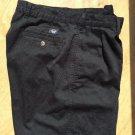Men Dockers Black Shorts Size 34 Cotton Pleated Pockets Dress Casual Khakis EUC