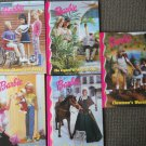 Set of 5 Barbie Hardcover Books Clawman Warning Ride Freedom Babysitting Blues