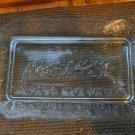 The Last Supper Plate Dish Glass Heavy Rectangle Oplaski Holder Holidays Bluish
