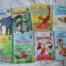 Set of 9 Disney Winnie Pooh Bambi Rescuers Pluto Dumbo Jungle Book Prince Books
