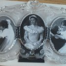 Mikasa Princess Triple 3 Oval Picture Frame 13 inch L SA 751/839 Heavy Glass NEW
