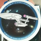 "Star Trek 1991 Plate Ceramic Stand 4"" Voyager Starship Enterprise Boldly Go  NEW"