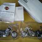 Set of 2 Maisto Harley Davidson Model Replica  2001 Dyna Low Rider 1993 Heritage