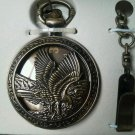 Soar Eagle pocketwatch Cut Out Bonze Flight Chain Detailed Pocket Watch Box NEW