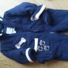 Blue Weather Tamer Snowsuit 18 Months Soft Double Thick Fleese Zipper Mitts EUC