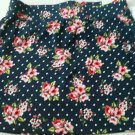 Aeropostale Stretch Skirt Short Size M Flower Polka Dot Mini Spandex Cotton NEW