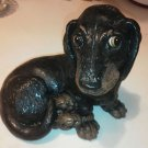 Cute Brown Black weiner Dog beautiful eyes Dachshund Puppy Resign Figure Hotdog