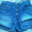 Ladies HIJEANS Blue jean Shorts Size 13 Rugged Worn Button Fly Soft 5 pocket NEW
