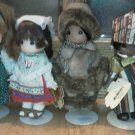 Set of 6 PRECIOUS MOMENTS Dolls Children of the World Africia Ireland Italy Alas