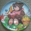 Pear Bear Plate Brown Dragon Northwest Pears Picnic Third Edition Childrens NEW