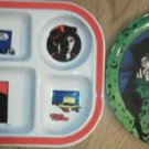 Set of 2 melmac Plates Batman Joker Dick Tracy Divided Crime Doesn't pay EUC