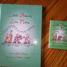 Set of 2 Little Francis Love Notes Book large small size Julia Hanna Franciscan