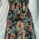 Ladies d.w. Studio Floral Dress Size 10 Chiffon Long Gown Cap sleeve Black NEW